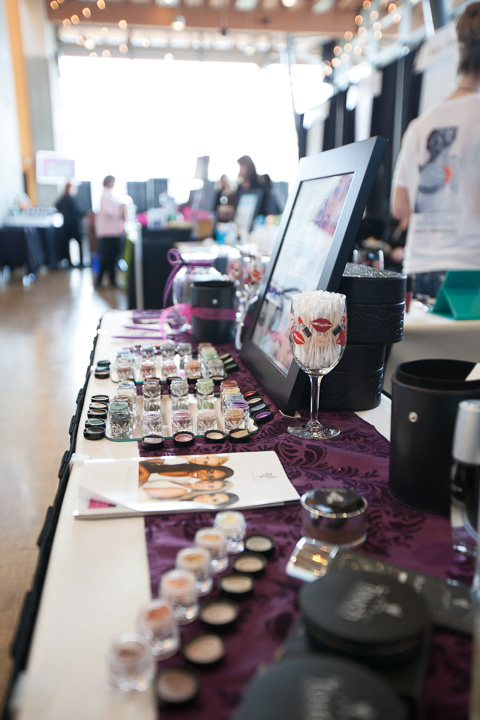 Photo from the Salem Women's Show looking at make-up and attendees