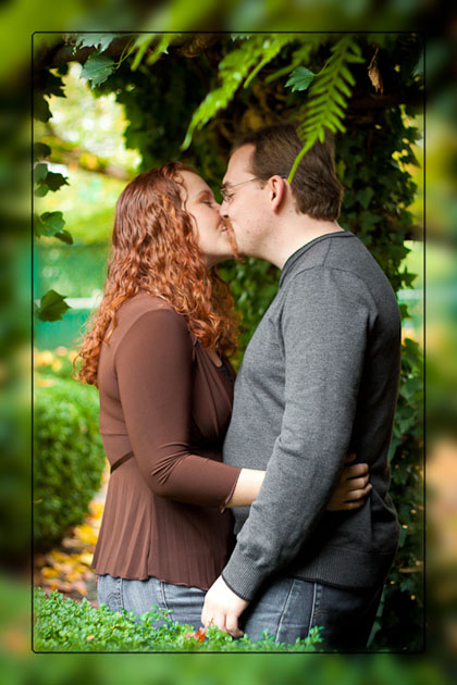 Engagement photo at Historic Deepwood Estate Salem Oregon