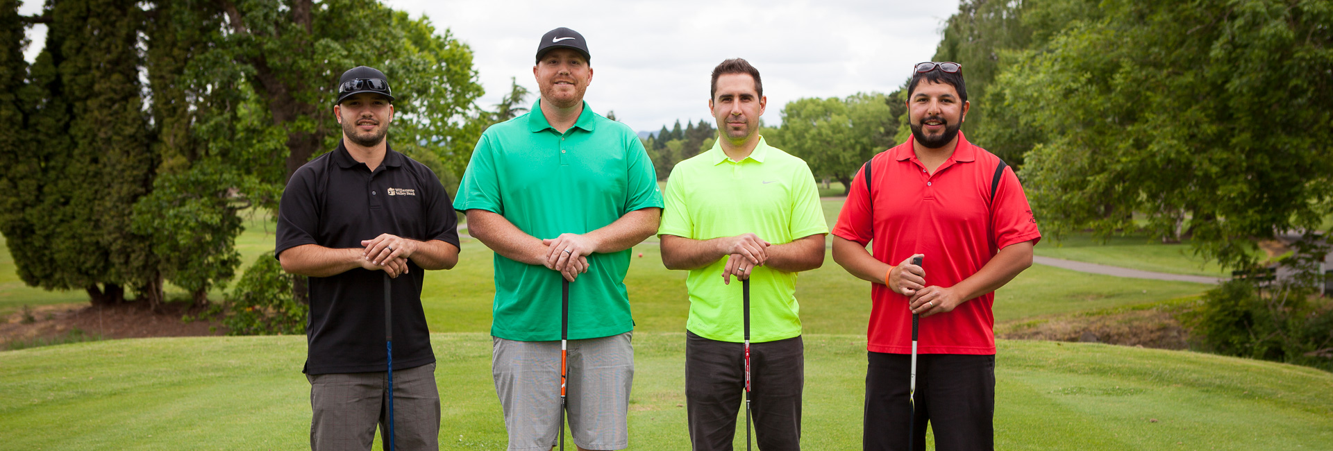 Golf tournament portrait at McNary Golf club in Keizer, Oregon