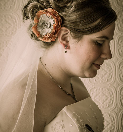 artistic bridal portrait by Photos By Orion