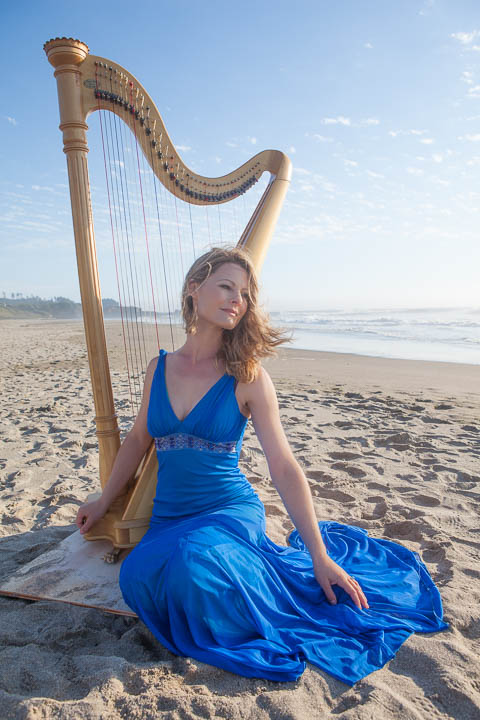 Harpist at the beach - Photos By Orion