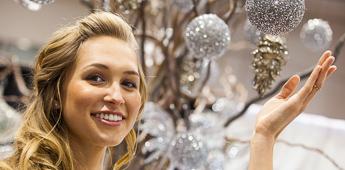 Model at a bridal fair