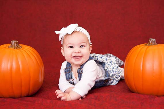 Pumpkin Halloween baby portrait by Photos By Orion Salem, Oregon