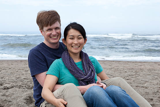 Couple on the beach taken by Photos By Orion