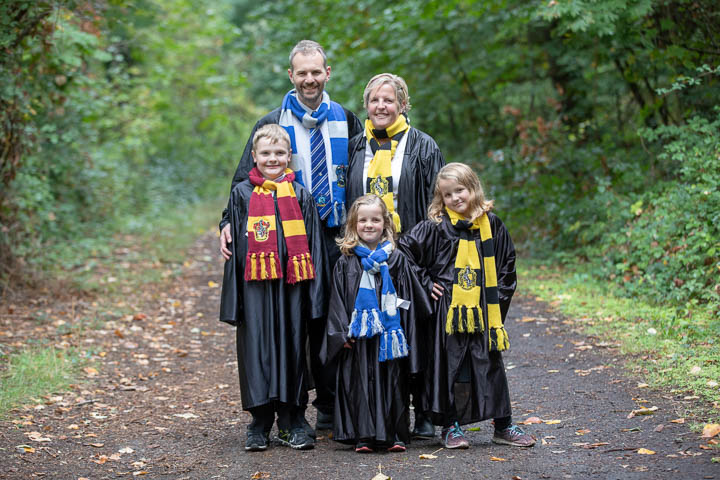 Family in the Forbidden Forest at Hogwarts